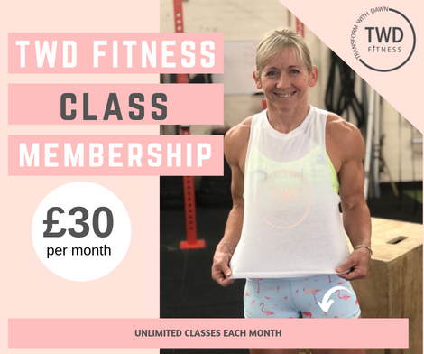 class membership poster for twd fitness hiit exercise classes in daventry