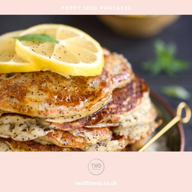 healthy eating recipe book poppy seed pancakes with lemon